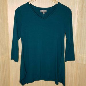 JM Collection 3/4 Sleeve Stretchy Tunic Small NWT